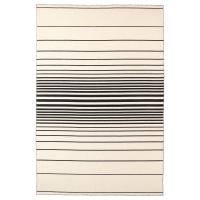 РИСТИНГЕ Ковер, безворсовый, ручная работа белый с оттенком белый с оттенком, черный